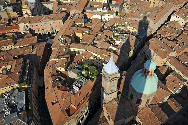 """The view from Asinelli Tower - """"A birds eye view of Bologna!"""" by @Kathryn Whiteside Burrington"""