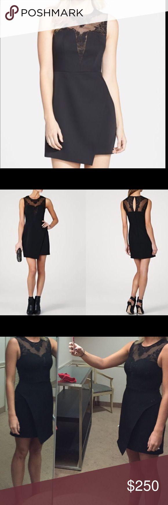 BCBG Maxazria Dress - black Size 4 BCBG Maxazria dress. Black with lace. Short and sleeveless. BCBGMaxAzria Dresses Midi