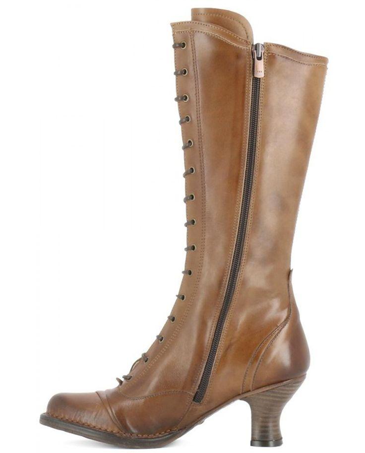 Botas de mujer Neosens de piel marrón