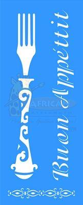 Stencil Garfo 17x42 - OPA