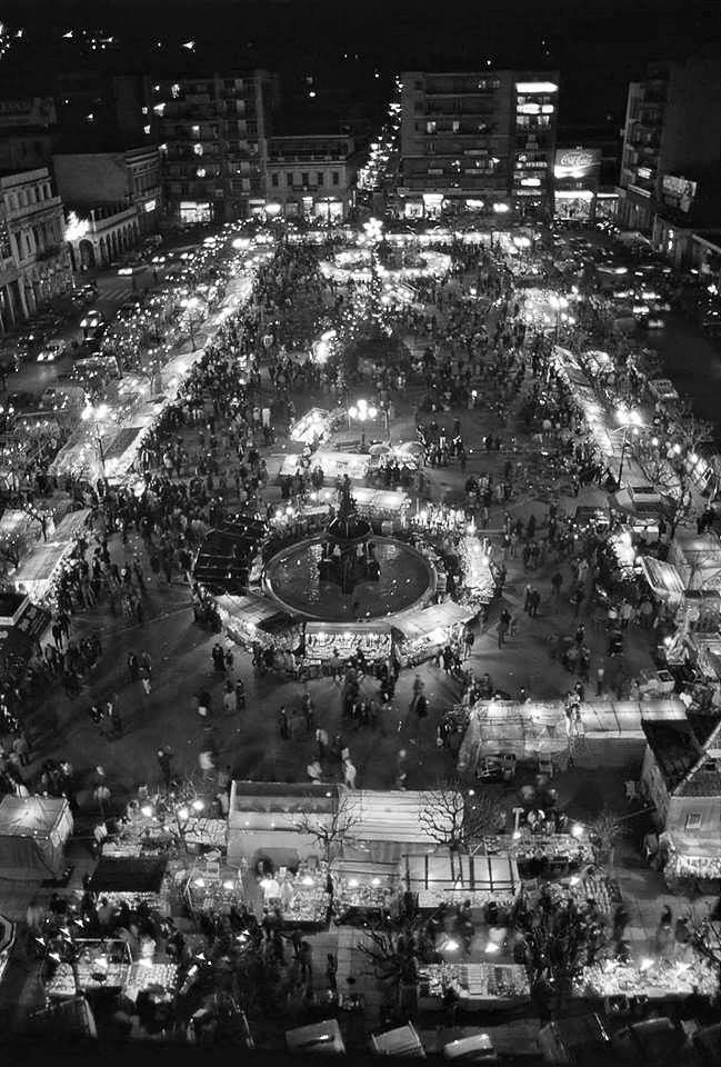 60s New Year's Eve : Georgiou sq, the bazaar