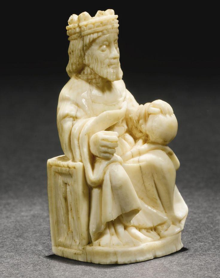 German, 14th century Ivory                                                                                                                 CHESSPI...