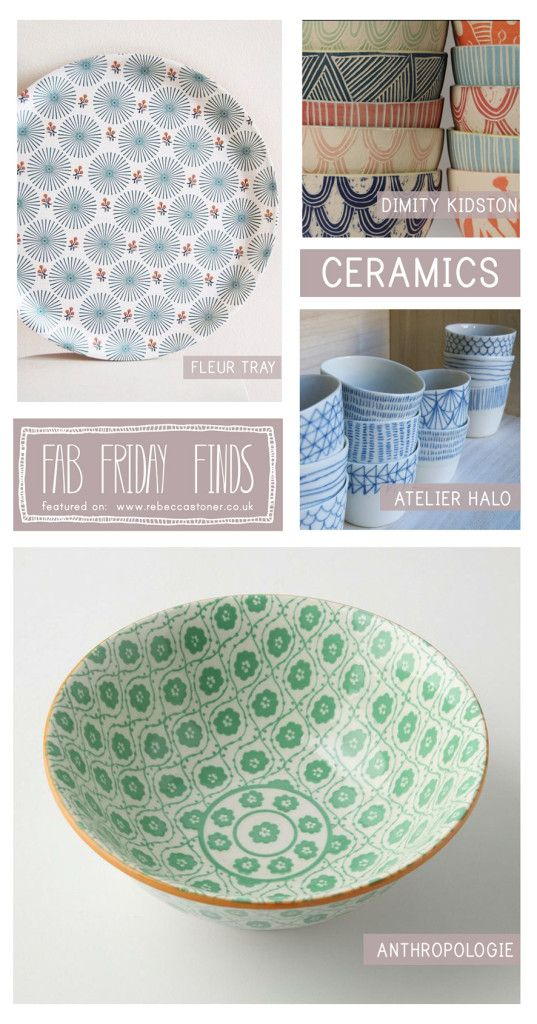 Fab Friday Finds - Week 12 - Ceramics - on Rebecca Stoner www.rebeccastoner.co.uk