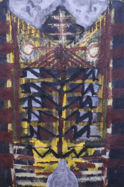 Bruno Ceccobelli, La Pianta Altera, Tecnica mista su carta, 38 x 60 cm