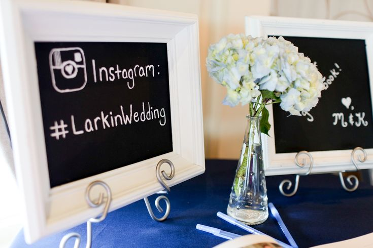 Cute wedding hashtag sign for Instagram