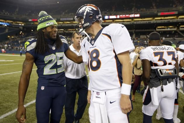 Richard Sherman Touts Classy Gesture by Peyton Manning After 2014 Super Bowl  After suffering a vicious defeat, it seems Manning still had enough class to make sure one of his more vociferous opponents was doing well after suffering an ankle injury. Peyton Manning is a classy guy!!
