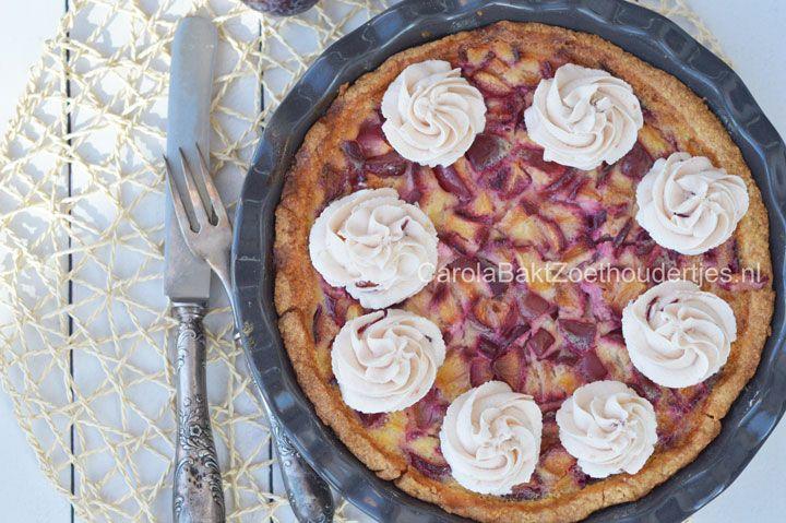Italiaanse pruimentaart, Italiaans gebak, Italiaanse taart, pruimentaart, Dolci de zilveren lepel, Italiaanse bakrecepten, recepten met pruimen, pruimgebak