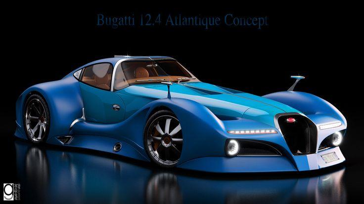 2014 Bugatti 12.4 Atlantique Concept Car by Alan Guerzoni.  Hypercars  (10)