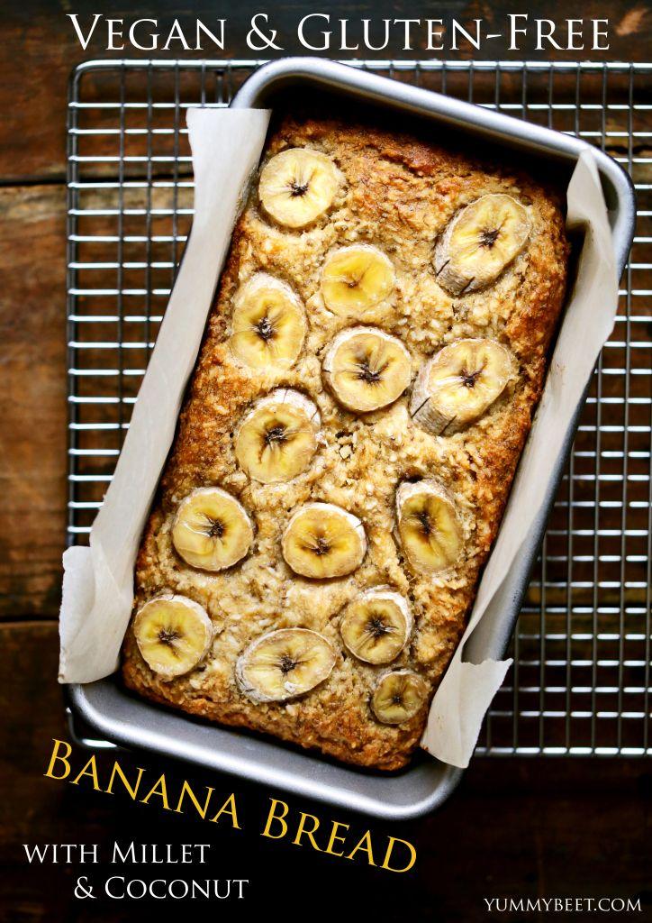 Vegan & Gluten-Free Banana Bread | yummybeet.com