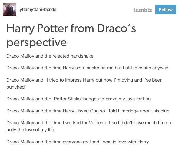 <i>Draco Malfoy and the Time Harry Kissed Cho So I Told Umbridge About His Club</i>.