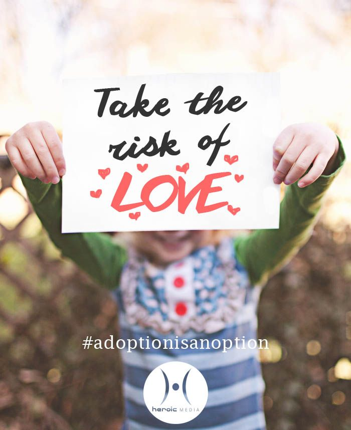 #Foster and adoptive parents are more afraid of what will happen to the #orphan that no one is willing to take a risk on than they are of the risk of pain. #love #adoptionisanoption #fostertoadopt