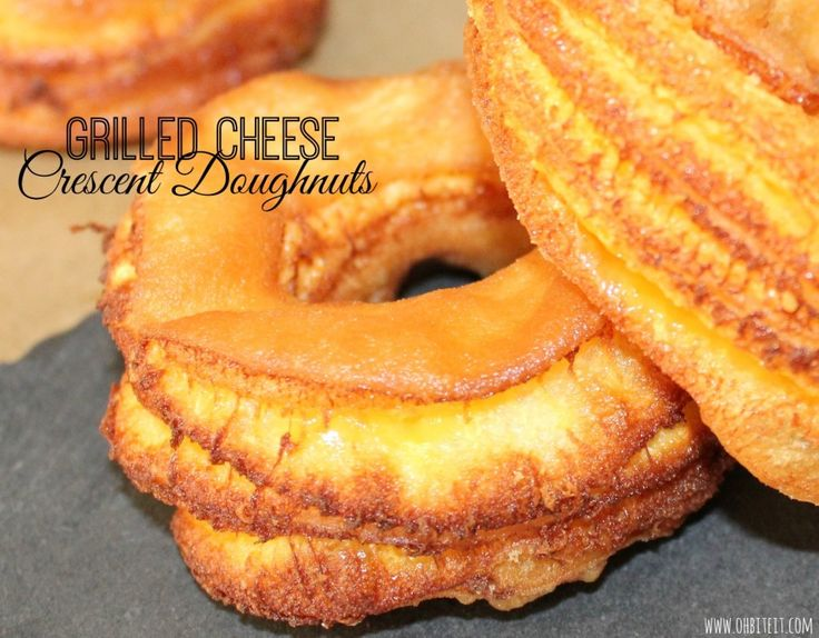 Give me strength! Grilled Cheese Crescent Doughnuts - another Christmas must this year.