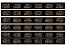 Star Wars Film logo edible cake ribbon decorating icing