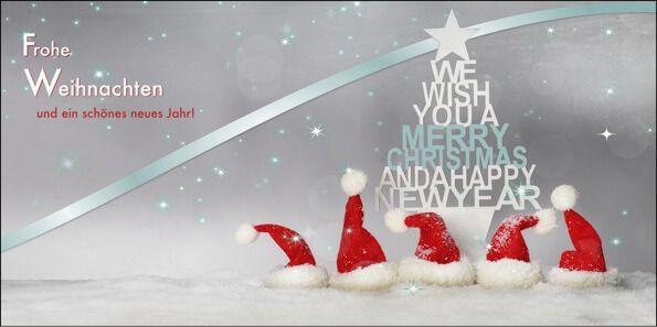 Weihnachtskarten Shop 2016 für Firmen - Silberne Weihnachtsgrüße - Artikel 11306 - Silberne Weihnachten
