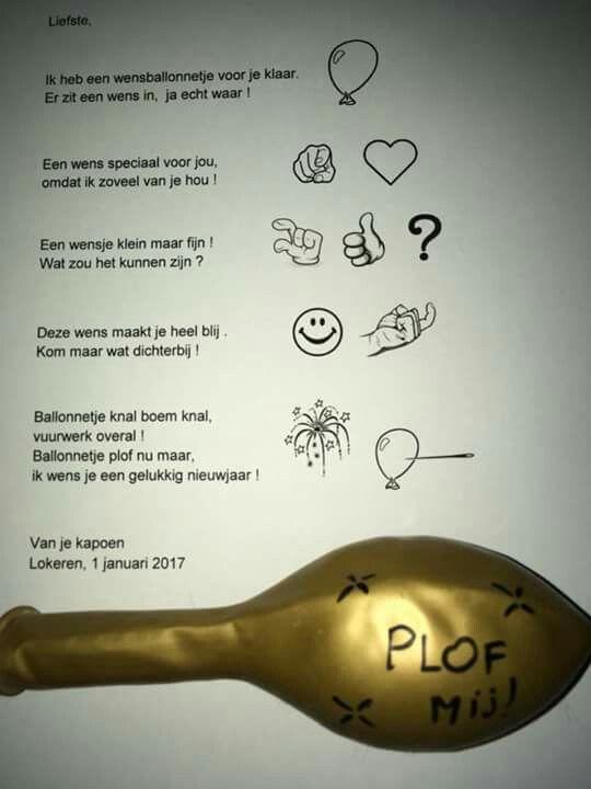 Nieuwjaarsbrief met ballon