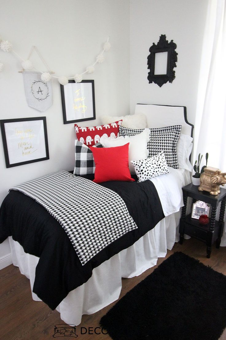Red And Black Dorm Bedding And Dorm Room Decor Shop This