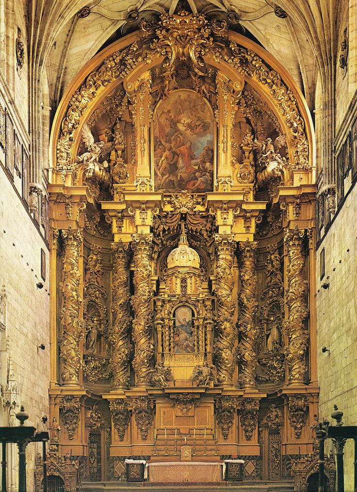 Retablo de jos de churriguera del la iglesia de san for Baroque style church