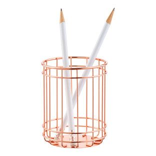 Copper Wire Pencil Cup