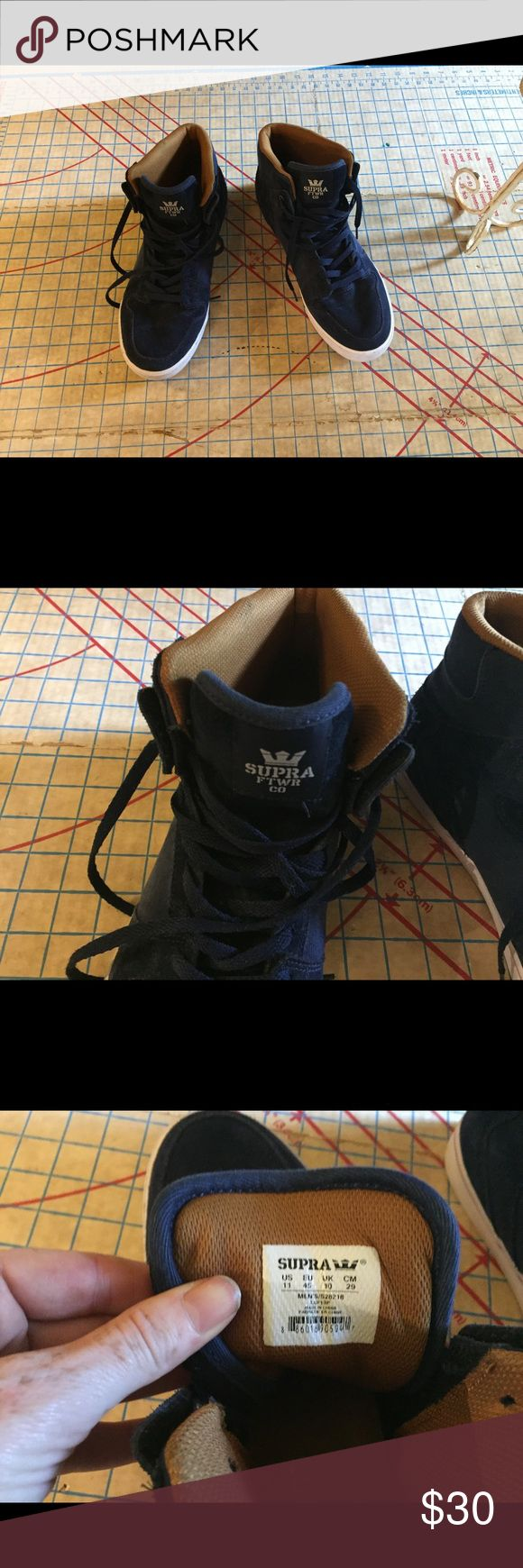 Supra high tops size 11 In great condition blue suede Supra high tops size 11. Worn just a couple times. Take a look at pics. No flaws or issues. Supra Shoes Sneakers