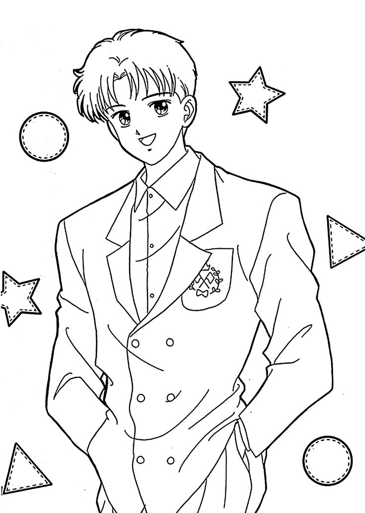 Ginta From Marmalade Boy Anime Coloring Pages For Kids Anime Boy Coloring Pages