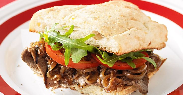 Our tasty Steak sandwich with caramelised onions has the midweek menu covered.