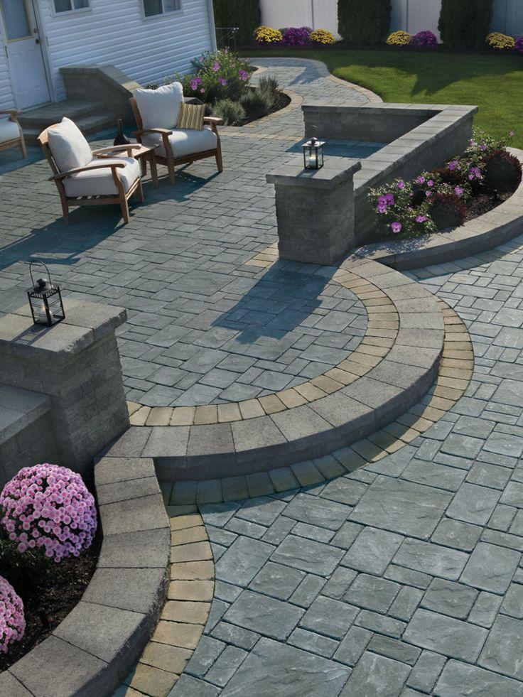 346 best Stone patio ideas images on Pinterest   Patio ... on Pebble Patio Ideas id=46987