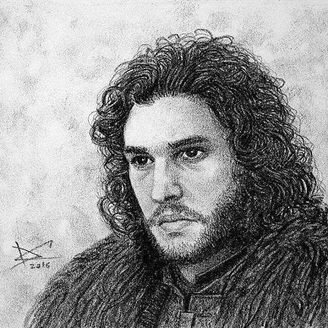 Even though it seems increasingly impossible, I still want to believe in the return of Jon Snow! #drawing #fanart #gameofthrones #jonsnow #kitharington