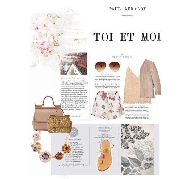 Toi et MOi by ljdia on Polyvore featuring polyvore fashion style Balenciaga Cushnie Et Ochs Oh My Love Dolce&Gabbana MANGO Designers Guild