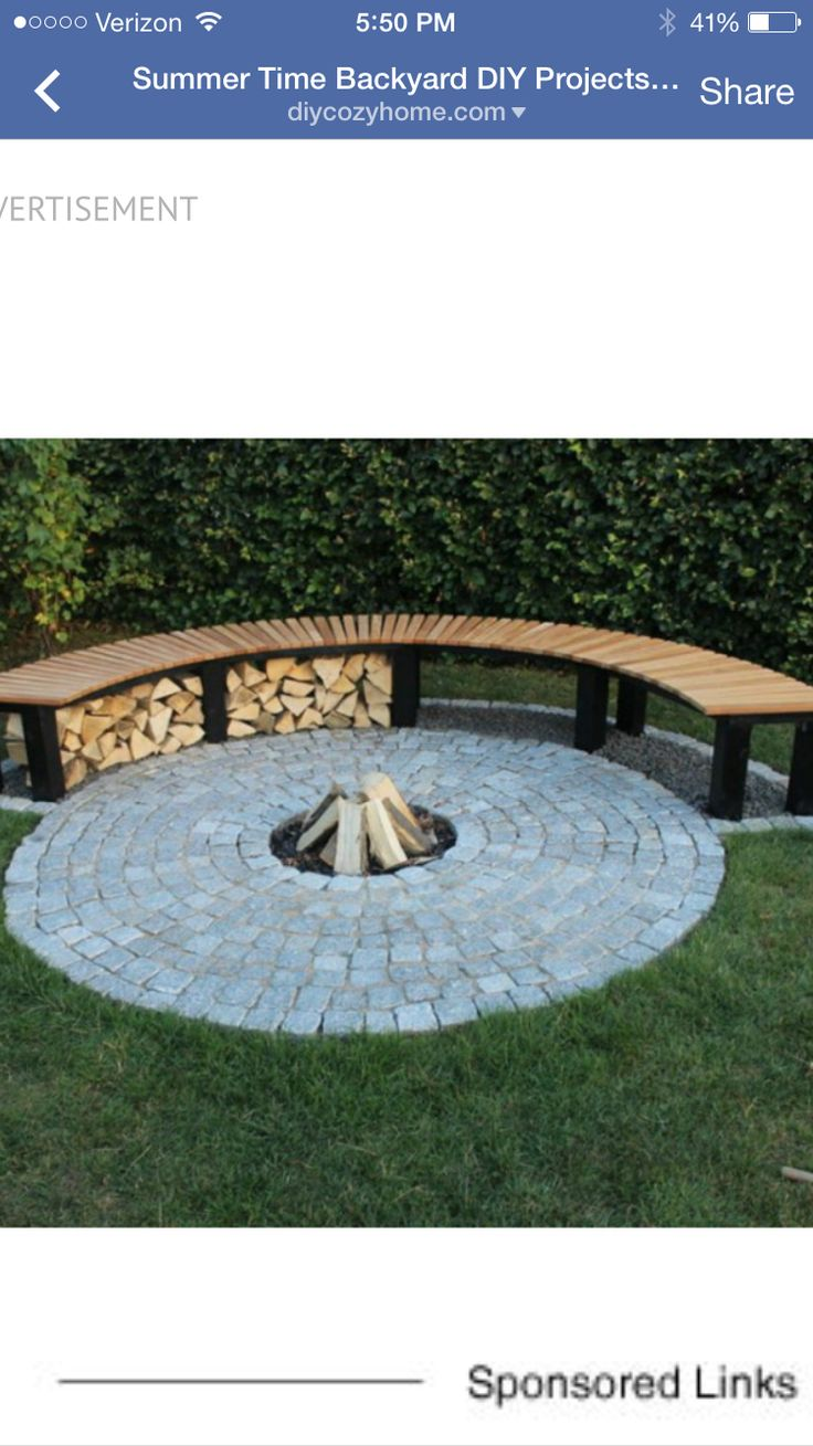 Pavers and seating around fire pit!