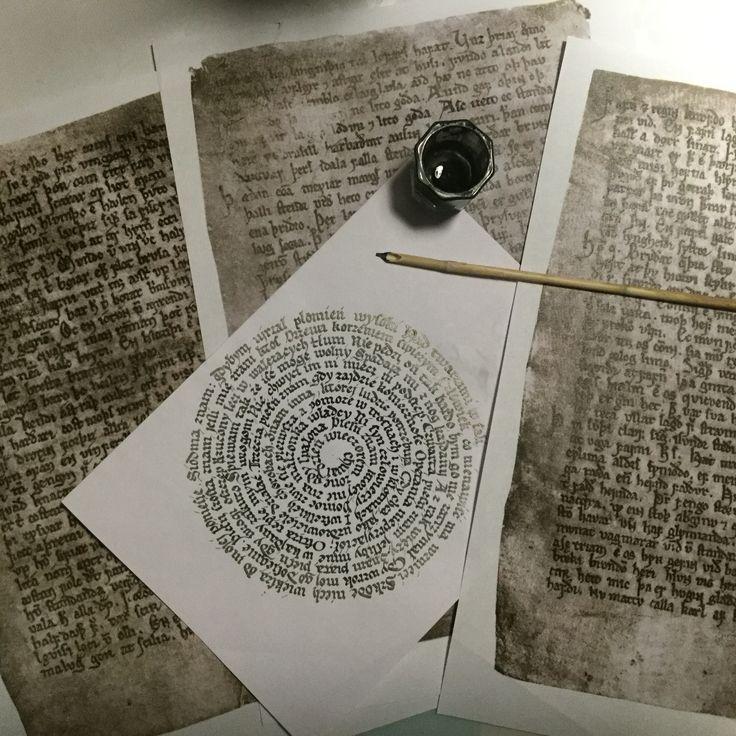 #calligraphy #gothic #protogothic #calame #reedpen #earlygothic #handwritten #handwriting #agapisze