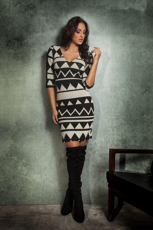 Comfort ✔️ Style ✔️ Get you a dress that can do both 👌ft. Nafsika Panagiotakopoulou φόρεμα >https://goo.gl/431lTM #minidress #blackandwhite #beyoucomgr #ootd