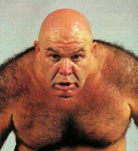 """George """"the animal"""" Steele, far from the speechless brute that he played as a wrestler, he has a Masters degree from Central Michigan and has taught as a professor"""