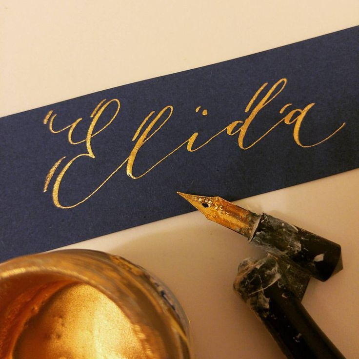 Writing place cards. And what a gorgeous name!  #placecard #wedding #details #custom #calligraphy #handwritten #pointedpen