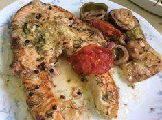 Σολωμός με πικάντικη σάλτσα λαχανικών !!! ~ ΜΑΓΕΙΡΙΚΗ ΚΑΙ ΣΥΝΤΑΓΕΣ