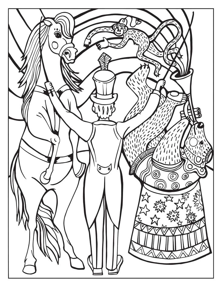 free downloadable circus coloring pages - photo#12