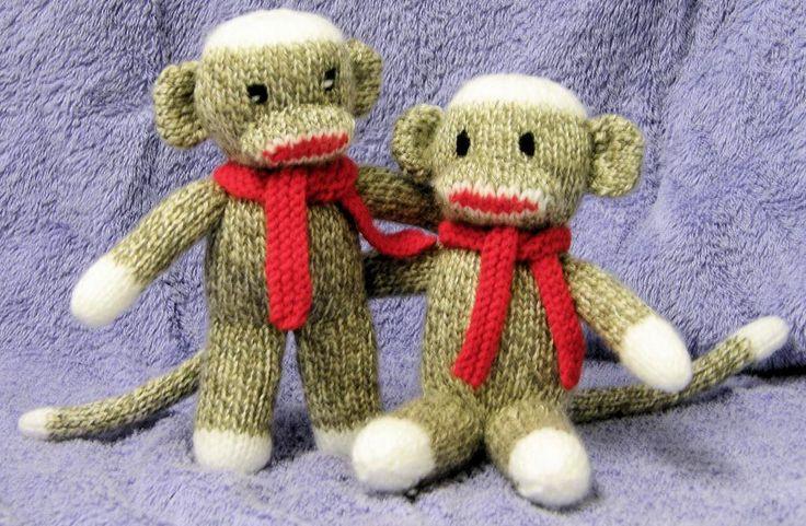 Free Knitting Patterns Toy Monkey : Adorable Sock Monkey Knit pattern - via @Craftsy ...