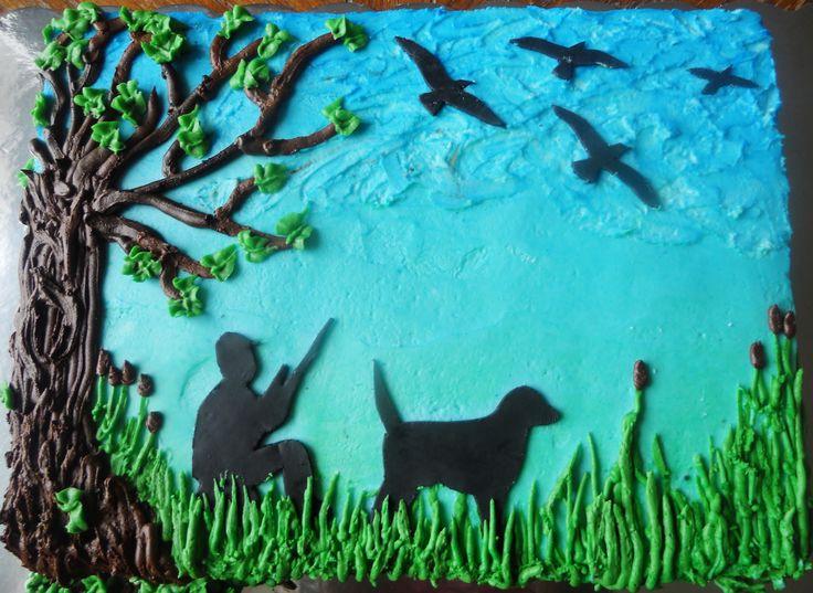 quail birthday cake   Hunting Sheet Cakes