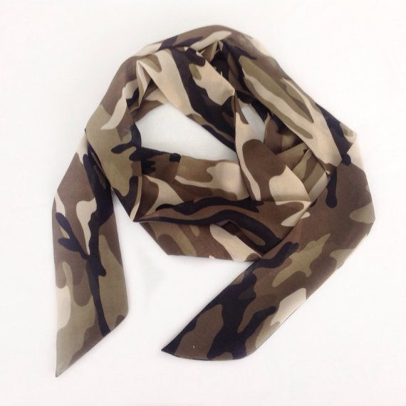 #giftidea  print #BowScarf, #Scarves for #guys, #CamouflageScarf, #Gift for #birthdaygifts end #Hunter #Friend #Birthday gift  #Camoheadband scarf #blingscarves #giftsfordad #headband #etsystar