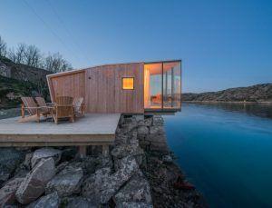 Moderne Hütten bieten Platz für bis zu 4 Personen                              …
