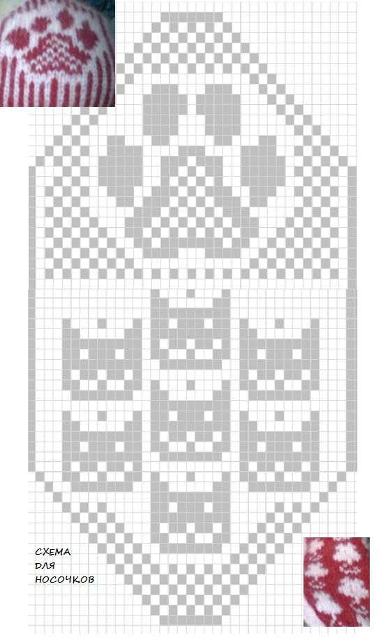 pattern for jacquard socks