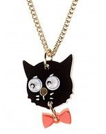 Cat and Bow Necklace - Black £27 - AW12