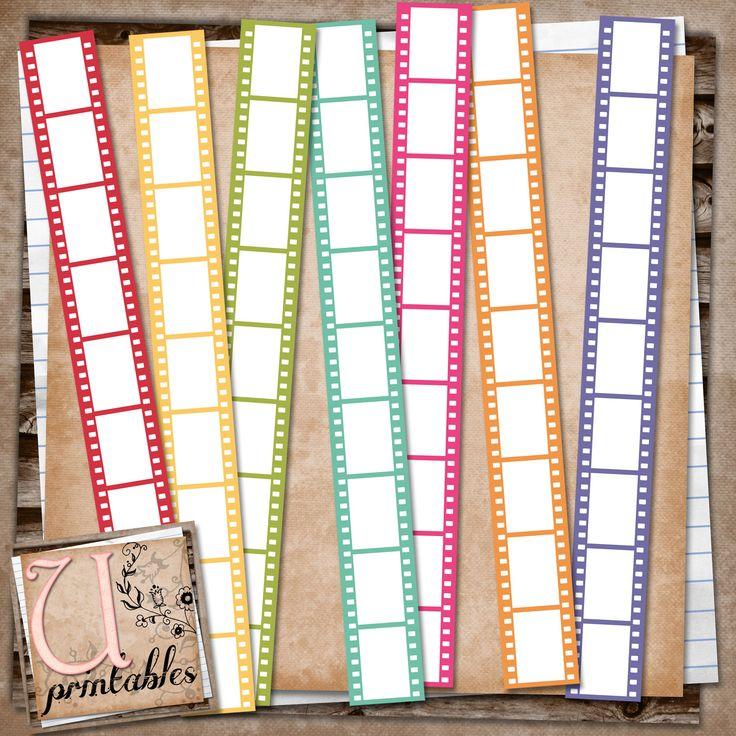 RebeccaB Designs: FREE Printable - Coloured Film Strips