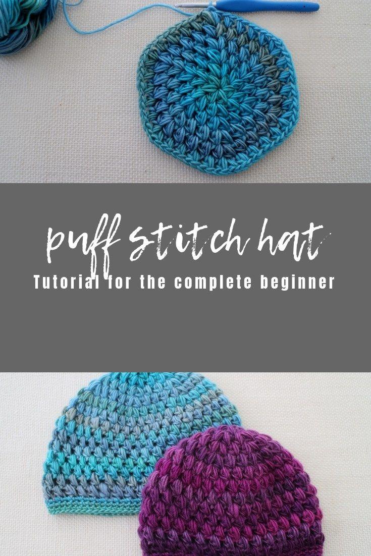Puff Stitch Hat Free Crochet Pattern Bhooked Crochet Crochet