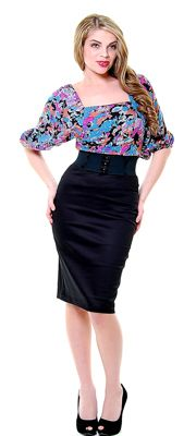 SALE! Steady Black Strut Your Stuff Pencil Skirt