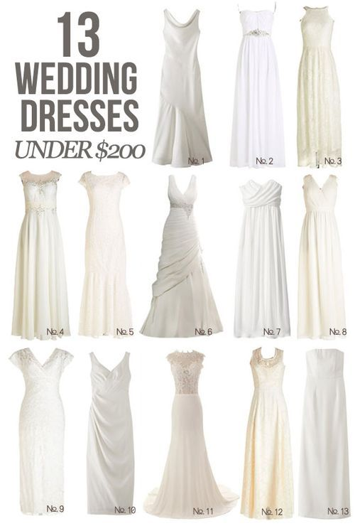 You can have that special wedding dresses AND it doesn't have to cost you the same as a new car    13 wedding dresses under $200!