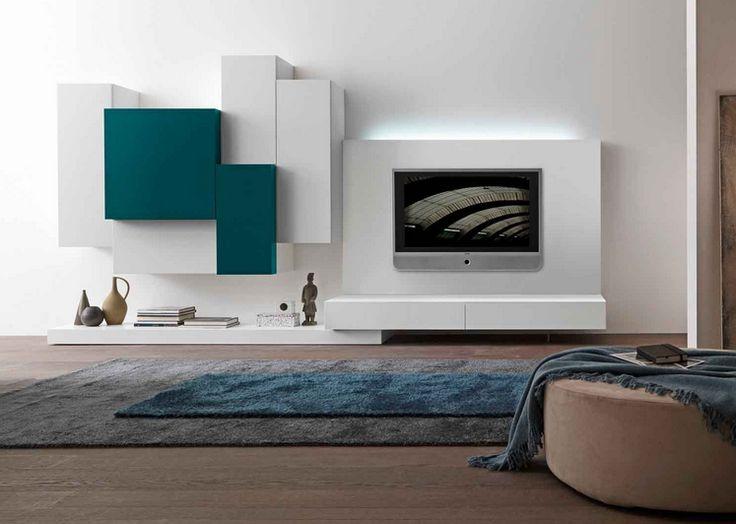 Mur de foyer contemporain recherche google mur de - Meuble tv suspendu ...