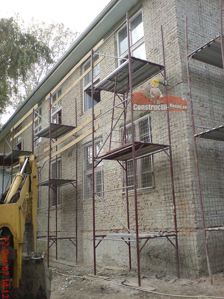 Consolidare pereti exteriori cu plase sudate din otel beton