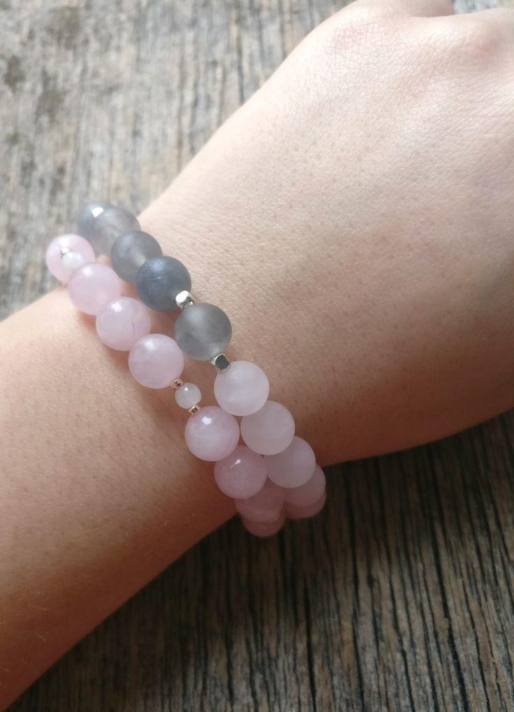 Pastel bracelet stack 🌷