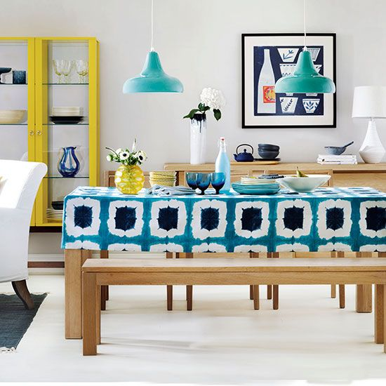 Colourful Dining Room Tablecloth