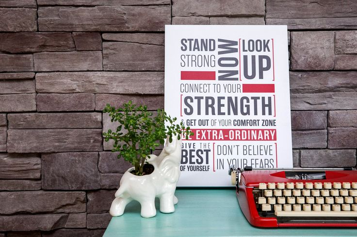 Stand Strong, Inspirational Word Art Wood Box Signs by [LOVE TO BE]12.5 x 16.5 inch Quotes and Typography Wall Décor by LOVETOB on Etsy